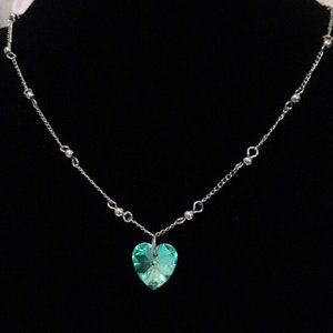 Crystal AB Color Changing Heart Necklace
